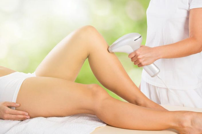 patient performing hair removal at The Naked Truth Skin Care Maple Ridge