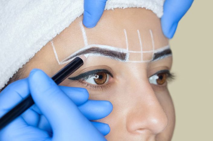 Microblading being done at our skin care center